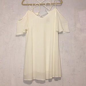 Beautiful Lulu's Creamy White Strap Dress. SZ L